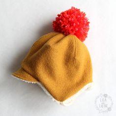 Supermüzz-Freebook: детская шапка / поворотная шапка для теплых ушей-фиолетовый, как любовь for kids toddlers Supermüzz - Freebook: Kindermütze / Wendemütze für warme Ohren nähen - Lila wie Liebe Knitted Hats Kids, Knitting For Kids, Kids Hats, Sewing For Kids, Free Sewing, Diy For Kids, Baby Knitting, Diy Crochet, Crochet Hats