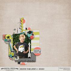 Kit: Little Dude by Laura Banasiak http://shop.thedigitalpress.co/Little-Dude-Digital-Scrapbook.html