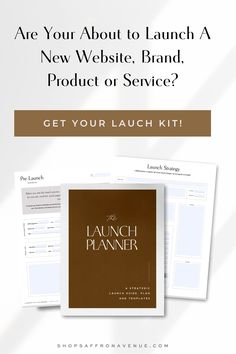 This strategic launch kit includes a launch planner, a launch guide full of examples, AND over 15 customizable, stylish social templates and mockups. Whether you are launching a brand, your new website, a product, or a service, this stylish, yet comprehensive kit will walk you through every step of the way to achieve a successful launch. For more information on this kit, visit us at www.saffronavenue.com Web Design, Creative Business, Business Tips, Instagram Grid, Goals Planner, Lettering Tutorial, Social Media Template, Creating A Brand, Website Template