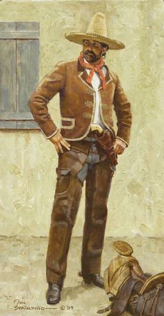 This is a page for me to organize my thoughts about how i would design Fallout: Mexico. Frederic Remington, Mexican Army, Mexican Revolution, Cowboy Pictures, Mexico Art, Mexican Outfit, West Art, American Frontier, Cowboy Art