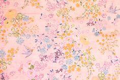 Japanese Fabric Nani Iro EN GARDEN double gauze  by MissMatatabi (Craft Supplies & Tools, Fabric, cotton, japanese, nani iro, naomi ito, matatabi, japanese fabric, kokka, miss matatabi, matabi, double gauze, EN GARDEN, floral, kou)