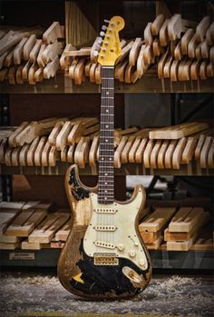 Reliced/well used Strat.