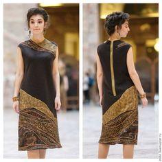 Купить Платье Артефакт 3 (продано) - коричневый, платье валяное, валяное платье, Мокрое валяние