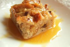 Southern bread pudding with bourbon sauce. Use 16oz raisin bread instead of french bread.