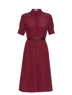 ALTUZARRA Kieran Striped Crepe De Chine Shirtdress. #altuzarra #cloth #shirtdress