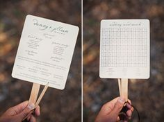 Vintage style fans for wedding use