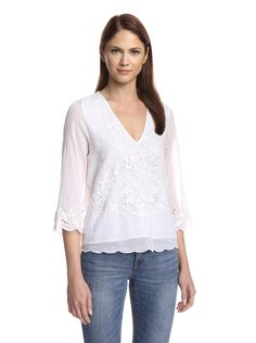 Love Sam Women's Maite Embroidered Blouse at MYHABIT