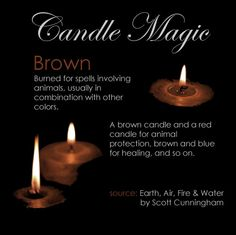Brown candle #browncandle #candlemagic