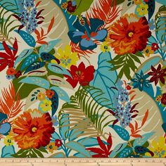Swavelle/Mill Creek Indoor/Outdoor Amorium Tiki Fabric By The Yard | Crafts, Fabric | eBay!