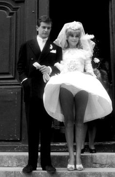 Catherine Deneuve marries David Bailey, 1965 Catherine has a Marilyn Monroe moment ;)