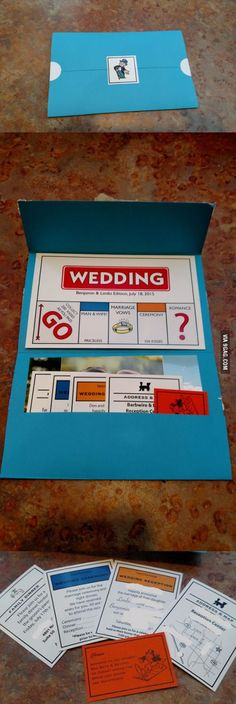 Invitations of a game themed wedding