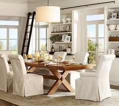 Toscana Extending Rectangular Dining Table | Pottery Barn love all of this, so perfect