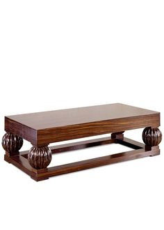 Featured: Art Deco Style Walnut and Macassar Ebony Coffee Table:  This low table, copied from a signed original, uses an exotic ebony with vivid grain to be the primary decorative element. The streamlined appearance, typical of the period, allows the table to be easily modified in size for custom orders.  See this and more at the J NELSON Showroom. #SFDP #interiordesign #southflorida