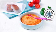 Sei med tomat, gulrot og basilikum er en rett som garantert vil falle i smak hos små barn. De spennende smakene vil sette fart på matlysten. Cereal, Breakfast, Food, Basil, Morning Coffee, Eten, Meals, Corn Flakes, Morning Breakfast