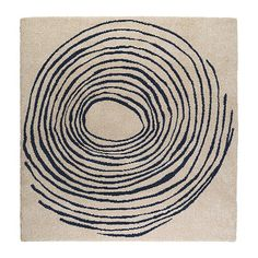 Eivor Cirkel Rug High Pile White Blue Circle Rugikea
