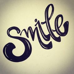 Smile hand lettering