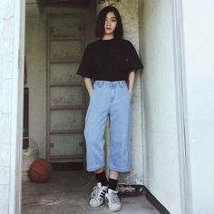 Gorgeous Clothes for korean fashion outfits 775 Korean Fashion Trends, Korean Street Fashion, Asian Fashion, Look Fashion, 90s Fashion, Fashion Outfits, Fashion Ideas, Korean Outfits, Retro Outfits