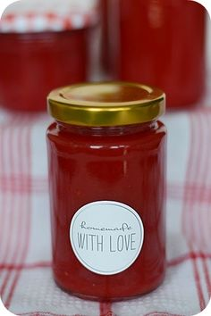 Früher mu… The funny thing is: we actually hardly eat any jam here. Jam Recipes, Sweet Recipes, Vegan Recipes, Love Food, A Food, Food And Drink, Chutneys, Marmalade Recipe, Kneading Dough