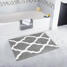 Bath Non-slip Appliques & Mats Brand New Greek Style 2 Piece Bath Mat Set Nonslip Machine Washable+free Postage High Quality And Low Overhead