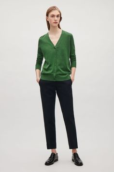 COS | Silk-cotton v-neck cardigan