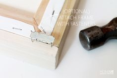 A floating frame is expensive when purchased new, but learn how to make your own for a fraction of the cost! Your canvas art will have a whole new look! Floating Canvas Frame, Diy Canvas Frame, Frames For Canvas Paintings, Diy Canvas Art, Diy Frame, Giant Wall Art, Diy Wall Art, Framed Artwork, Wall Art Prints