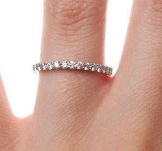 Shared Prong Diamond Ring (1/2 ct. tw.). This beautiful diamond band graces the finger with sixteen brilliant diamonds.#BrilliantEarth
