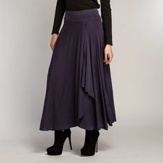 Eco Fashion Chic - Navy Maxi Skirt - It's made of eco friendly 100% organic cotton jersey, beautifully dyed with low impact dyes and stitched byFair Trade Artisans in Peru.