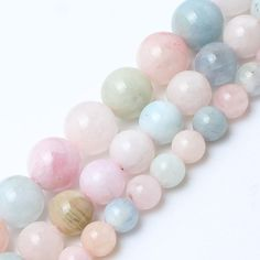 New Natural 8//10mm Faceted pink Morganite Gemstone Beads Necklace 18-35/'/' Hot