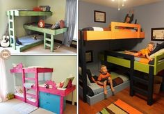 Diy Triple Bunk Beds - WoodWorking Projects & Plans