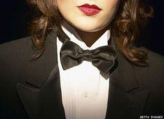 Tuxedo and Red Lipstick