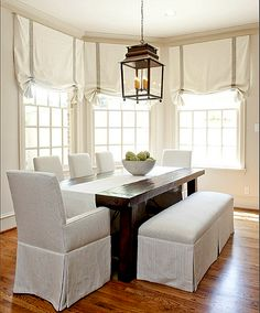 I love the simplicity of this room. Not too much to dust.