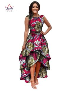 2016 Long Dessses Women Fashion Dress Maxi  Brand African Bazin Dresses for Women Dashiki Ankara Dresses Cascading RuffleWY447-in Dresses from Women's Clothing & Accessories on Aliexpress.com | Alibaba Group