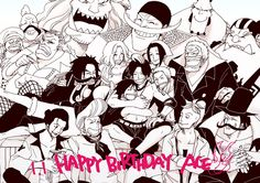 Happy Birthday Ace! One Piece Funny, One Piece Ace, One Piece Birthdays, Susanoo Naruto, Ace Sabo Luffy, One Peace, One Piece Images, Irish Art, Family First