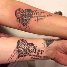 Best Brother Tattoos Matching Symbols, Memorial Quotes & Designs for Sisters Dope Tattoos, Girly Tattoos, Trendy Tattoos, Body Art Tattoos, Sleeve Tattoos, Tatoos, Hp Tattoo, Heart Tattoos, Tattoo Small