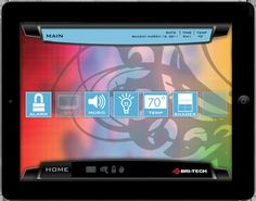 Bri-Tech touch screen gives you easy, full control of your home automation system