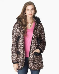 Juicy Couture Leopard Print Puffer