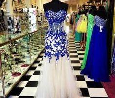Prom Dress, Elegant Prom Dress, Sweetheart Prom Dress, Royal Blue Prom Dress, Crystal Prom Dress, Tulle Prom Dress, Long Prom Dress, Formal Occasion Dress, Hot Sale Prom Dress