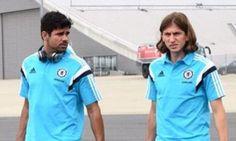 Diego Costa and Filipe Luis in Chelsea gear ahead of pre-season tour