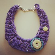 Crochet necklace Collana uncinetto