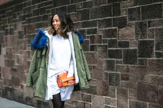 Aimee Song at New York Fashion Week Fall-Winter'2015/16, day 1