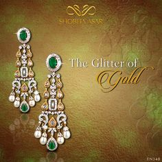 Be #radiant like glittery #gold! #earrings #danglers #sparkling #glitter #ShobhaAsar #ShobhaAsarJewels #ShobhaAsarJewellery