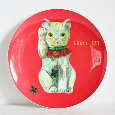 ナタリー・レテ ラウンドプレート lucky cat ラッキーキャット - パリと、猫と、エトセトラ。「マッシュノート」