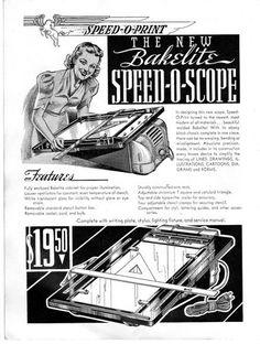 Speed O Print Mimeograph Duplicator Stencil Table.