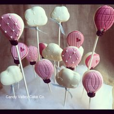 Hot air balloons of cake!