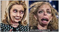 Hillary and Debbie Wasserman Schultz   http://www.worldnewsbureau.com/2015/04/new-1.html