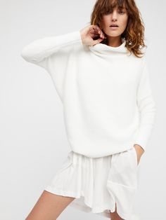 Optic white Ottoman Slouchy Tunic at Free People Clothing Boutique