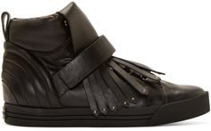 Marc Jacobs Black Fringed High-Top Sneakers