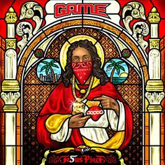 the Jasmine Brand: ((Artistic or Appalling)) The Game Releases Album Cover With Jesus As A Tear Drop Tatted Blood