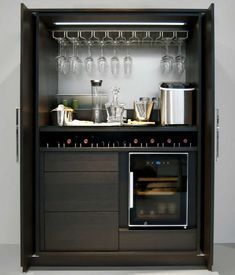 Modern home bar design ideas Diy Home Bar, Modern Home Bar, Mini Bars, Small Bars For Home, Kitchen Bar Design, Kitchen Bars, Kitchen Pantries, Kitchens, Bar Unit