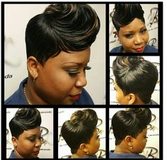 Pretty - All About Short Weave Hairstyles, Dope Hairstyles, Black Girls Hairstyles, Pretty Hairstyles, Amazing Hairstyles, Short Sassy Hair, Long To Short Hair, Short Hair Cuts, Quick Weave Styles